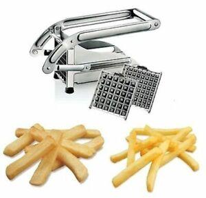 Taglia Patate Affetta Acciaio Inox Patatine Bastoncino Cucina Accessorio hmj