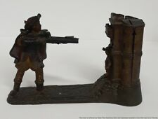 Antique 19c JE Stevens William Tell Cast Iron Mechanical Bank Estate Find ToFix