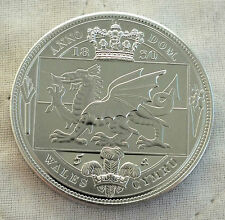 WALES WILLIAM IIII 1830 ALUMINIUM PROOF PATTERN 5 SHILLNG CROWN