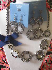 SIMPLY VERA WANG NWT $90  women's necklace & 2 matching earrings set