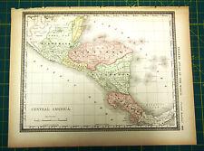 Central Latin America -  Rare Original 1883 Rand McNally Antique World Atlas Map