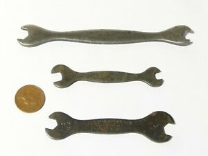 3 Vintage TERRY'S SPANNERS Tempered Steel BA & WHIT English