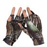 Anti-slip Fishing Gloves 3 Fingerless Waterproof Sun Protection Camo Fish Gloves