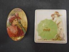 VINTAGE 1987 COCA COLA DRINK COMPANY MAGNET + DRINK COCA COLA SMALL MIRROR