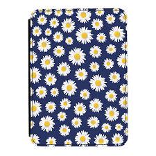 Margaritas Azul Flores Floral Kindle Paperwhite Toque PU Funda Libro de Piel
