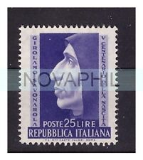 ITALIA 1952  -  SAVONAROLA   NUOVO (*)  senza gomma