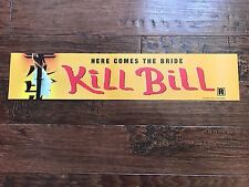 KILL BILL 5X25 MYLAR DS MOVIE POSTER