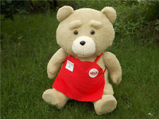 Cute NEW Ted Movie TED the Bear Sitting BEAR With Red Apron PLUSH Toy  Teddy