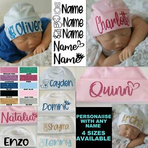Baby Beanie Hat Personalised Cap Newborn -24 months baby shower gift custom name