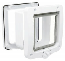TRIXIE 4-Way Cat Flap Door with 2 Tunnels White - Wall Cat Flap 44231