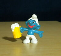 Smurfs Beer Smurf 20078 Classic 1975 Vintage Mug Figure PVC Toy Figurine Rare HK