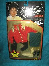 "Michael Jackson Doll Stage Outfit & Glove ""BEAT IT""- MOC 1984 LJN Magic Glove"