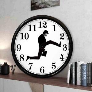 Monty Python Inspired Silly Walk Wall Clock Creative  Silent Mute Clock Wall Art