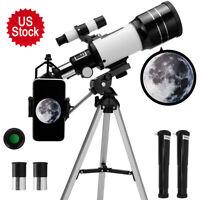 300X70mm Aperture Astronomical Telescope Refractive Finderscope Refractor Tripod