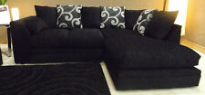 Dyla Zina Right Corner Sofa Black Fabric Chenille