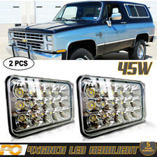 "2Pcs 4x6"" Hi/Lo Sealed Beam LED Headlights for GMC C4500 Chevrolet C5500 Kodiak"