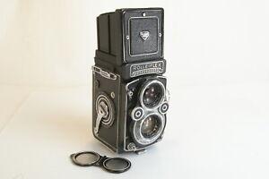 Rolleiflex 3.5F (Type 3) Camera w/ Zeiss Planar 75mm F3.5 Lens & Flat Glass Back
