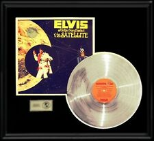 ELVIS PRESLEY GOLD RECORD PLATINUM DISC RARE ALOHA FROM HAWAII LP ALBUM FRAME