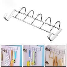 Coat Towel Hanger Rack Hook Rail Stainless Steel Over The Door Kitchen Bathroom