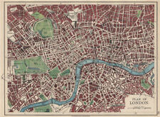 Londres plan. west end pimlico city southwark islington lambeth. johnston 1903 carte