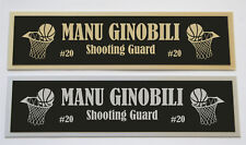 Manu Ginobili Spurs nameplate for signed basketball photo jersey or case