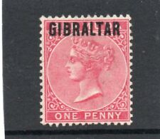 Gibraltar Vic.1886 1d rose-red sg 2 H.Mint
