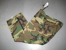 US ARMY ECWCS WOODLAND CAMO GORETEX TROUSERS LARGE SHORT 8415-01-228-1348