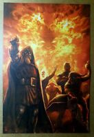 Avengers Skrull Dr Doom Mephisto Ghost Rider Marvel Comics Poster by Billy Tan