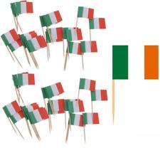 50 x ST PATRICKS DAY IRISH PARTY FLAG WOODEN COCKTAIL BUFFET STICKS PICKS Q47
