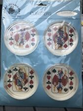 Fond Memories Counted Cross Stitch Coasters Kit PLAYING CARDS C-17 - SEALED