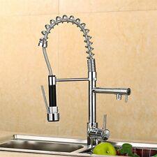 Modern Monobloc Chrome Brass Kitchen Sink Pull Out Spray Faucet Mixer Tap Hot UK