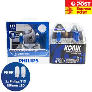 Philips H7 Crystal Vision KONIK H9 White Halogen Light for Volkswagen GOLF MK7.5