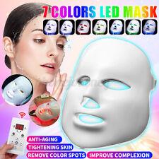 7 Farben LED Photon Licht Hautverjüngung Lichttherapie Anti Falten
