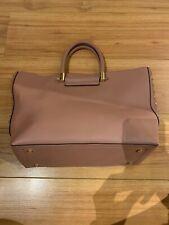 Topshop Pink Tote Handbag With Gold Hardware
