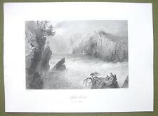 CANADA Split Rock St. John River - 1841 Engraving Print by BARTLETT