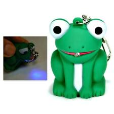 LED FROG KEYCHAIN with Light and Sound Cute Croaking Noise Toy Key Ring Chain