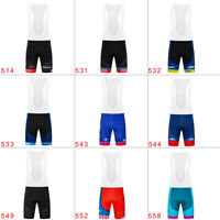 Men's Cycling Bibs Bib Shorts Breathable Gel Pad Riding Racing Bike Short Pants