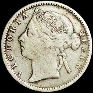 MAURITIUS - BRITISH COLONY - VICTORIA - 20 CENTS 1899 - SILVER COIN  #MRU2
