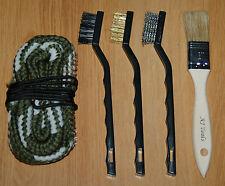 Bore cleaning snake brush 20 gauge shotgun kit swab mop rope NEW US SHIPPER free