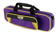 Gator Spirit Series Lightweight Flute Case Yellow and Purple  GL-FLUTE-YP