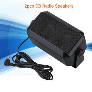 2PCS RoadPro RPSP-15 Police Scanners Speakers 8Ohm Universal For Kenwood Yaesu.
