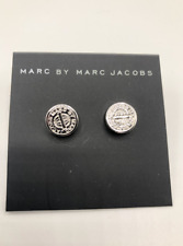 MARC BY MARC JACOBS EARRINGS! Turnlock Stud Earrings in ARGENTO NWT :)
