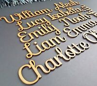 Script Bespoke Personalised names, letters or words. Wooden Christmas Box SF