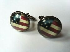 USA FLAG STARS AND STRIPES CUFFLINKS - NEW