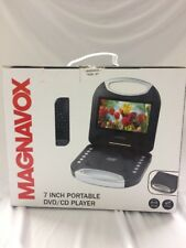 Magnavox Black 7 Inch Portable DVD Player With Remote Control, And Car Adapter