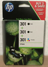 "E5Y87EE Original HP 301 3-Pack Tintenpatronen "" 2 x Black+ 1 x Color"""