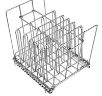Stainless Steel Sous Vide Racks 11L Vide Cooker Containers Detachable Dividers