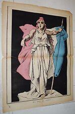 LA LUNE ROUSSE 1879 ANDRE GILL J'Y SUIS J'Y RESTE CARICATURE JOURNAL SATIRIQUE