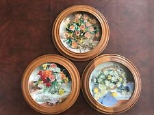 W. L. George Fine China / Set Of 3 / Roses, Daisies, Tulips