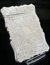 Antique Silver Card Case, Birmingham 1860, Aston & Son.